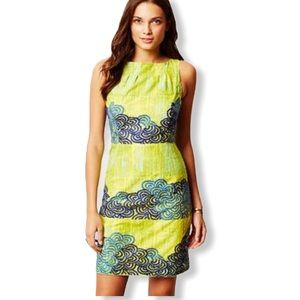 Anthropologie Tabitha embroidered silhouette dress